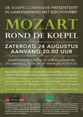 Poster Mozart rond de koepel (Digitale toepassing)