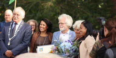 Ab Welgraven ontving de erepenning van de Gemeente Ede. Foto: Jan van Uffelen