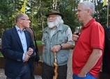 Eric Blok, Louis Fraanje en Wim Bruijnes (foto: Fransien Fraanje)